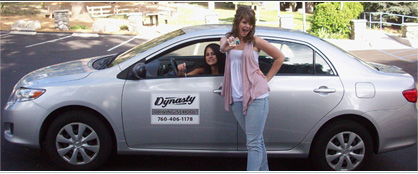 Dynasty Driving School students